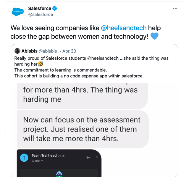 Salesforce endorsement